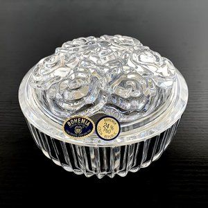 Crystal Rose Cluster Candy Dish/Jewelry Holder